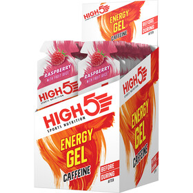 High5 Energy Gel Box 20 x 40g Caffeine Raspberry